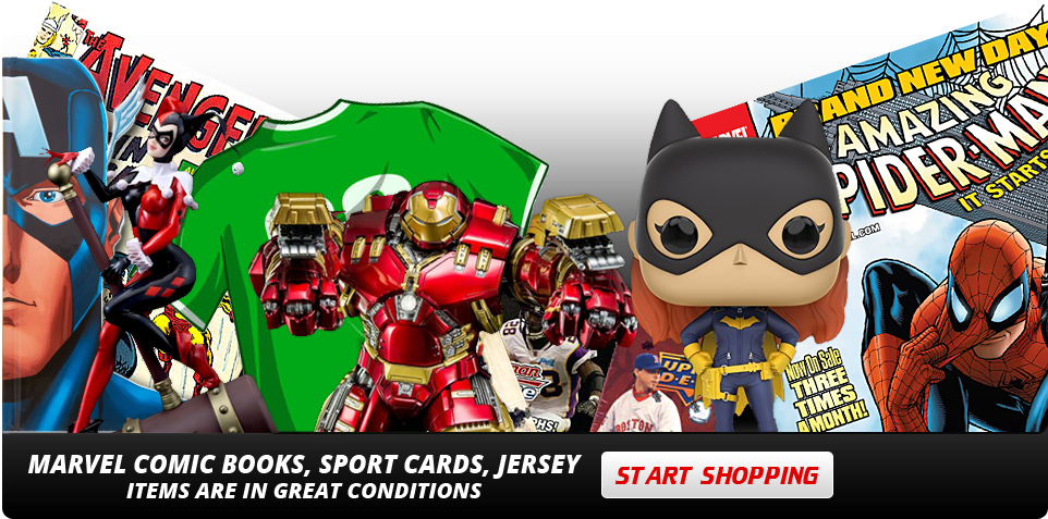 Marvel Comic books, sport cards, jersey Items are in great conditions - start shopping
