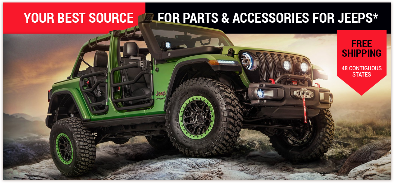 Your best source for parts & accessories for jeeps*