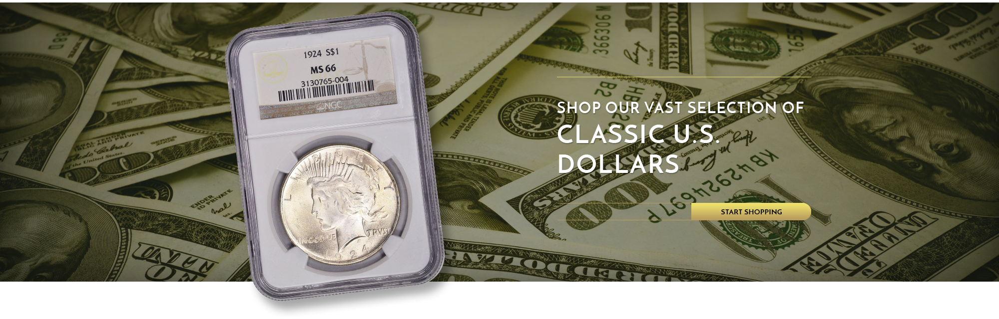 Shop our vast Selection of Classic U.S. Dollars - start shopping