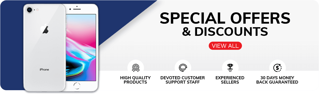 Special offers & discounts - High Quality Products - Devoted Customer Support Staff - Experienced Sellers - 30 Days money back guaranteed