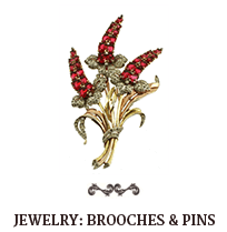JEWELRY: Brooches & Pins