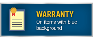 Warranty - On items with blue background