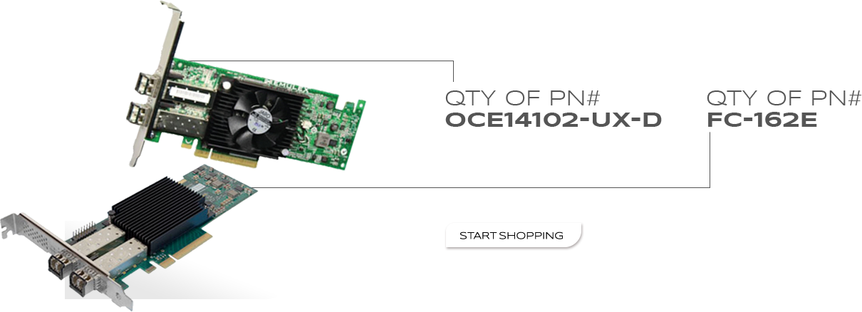 QTY of PN# - Oce14102-UX-D - QTY of PN# - FC-162E - Start Shopping