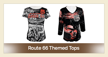 Route 66 Themed Tops