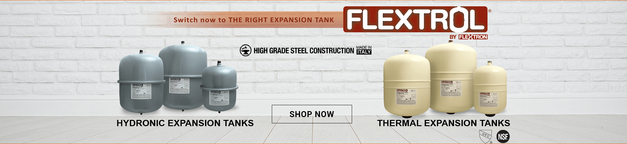 Switch now to THE RIGHT EXPANSION TANK . SHOP NOW