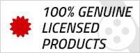 100% Genuine Licensed Products
