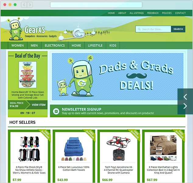 Advanced Template and Store Design | eBay Stores