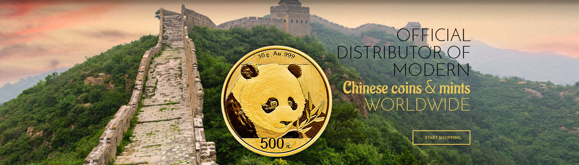 Official distributor of modern - Chinese coins & mints - worldwide - start shopping